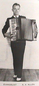 A A Allen on his accordian